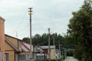 Biudžetas kiauras, bet gatvės apšviečiamos ir šviesiu paros metu