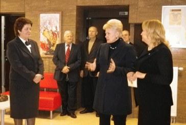 Prezidentė įvertino ir Prienų rajono valdžios darbą