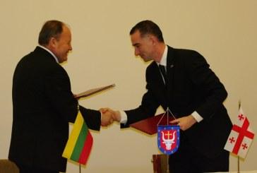 Birštone pasirašytas Kauno ir Shida Kartli regionų bendradarbiavimo susitarimas