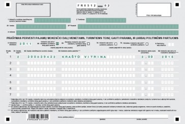 2% gyventojo pajamų mokesčio – Krašto Vitrinai