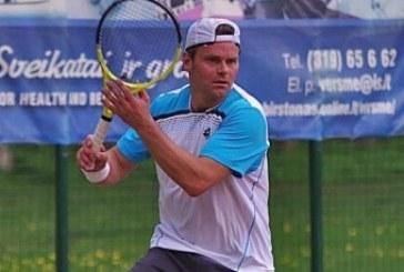 Stiprokas lietus neleido užbaigti teniso vienetų turnyro Birštone