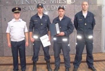 Prienų ugniagesiai laimėjo tarptautines lipimo varžybas