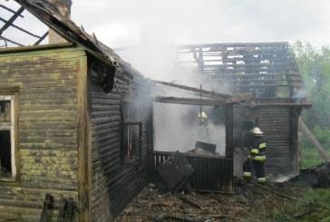 Žaibas trenkė į namą – pasekmės liūdnos