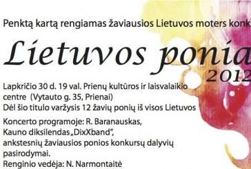 """Prienuose – konkursas """"Lietuvos ponia"""""""