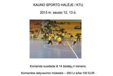 Tarptautinis vaikų salės futbolo turnyras Kauno sporto halėje