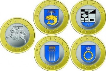 Pirmą kartą istorijoje Lietuvos bankas išleido spalvotas monetas, dedikuotas kurortams