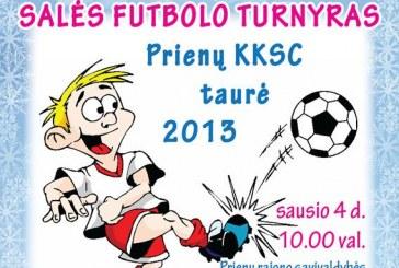 Naujametinis futbolo turnyras Prienų KKSC taurei laimėti
