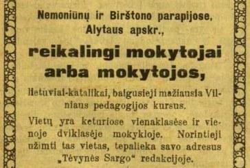 1918 m. Vasario 16-oji ir Birštono krašto mokykla