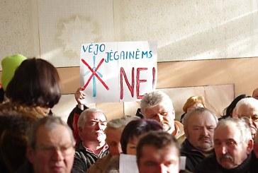 """Pakuonio seniūnijos bendruomenė: vėjo jėgainėms – tvirtas """"ne"""""""