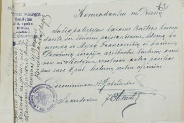 Pirmasis 1918 m. atkurtos Lietuvos valdžios dokumentas Birštone