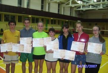 Balbieriškio badmintonininkų krepšelyje – vienuolika medalių