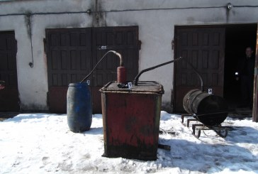 Birštono seniūnijos gyventojo namuose – aparatas naminei degtinei gaminti