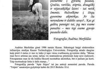 """Paroda apie žirgus """"Tulpės"""" sanatorijoe"""
