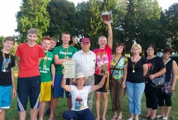 Nugalėtoja tapo Lietuvos valstiečių ir žaliųjų sąjungos Prienų skyriaus komanda