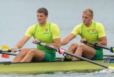 Rolandas Maščinskas su Sauliumi Ritter – pasaulio čempionato pusfinalyje