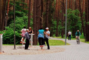 Birštono centriniame parke sumontuoti visi treniruokliai