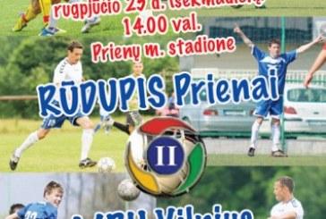 Futbolas Prienuose – sekmadienį 14 val. miesto stadione