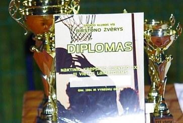 """Naktinio krepšinio turnyro nugalėtojais tapo """"Olimpo"""" ir """"Devym penkti"""" komandos"""