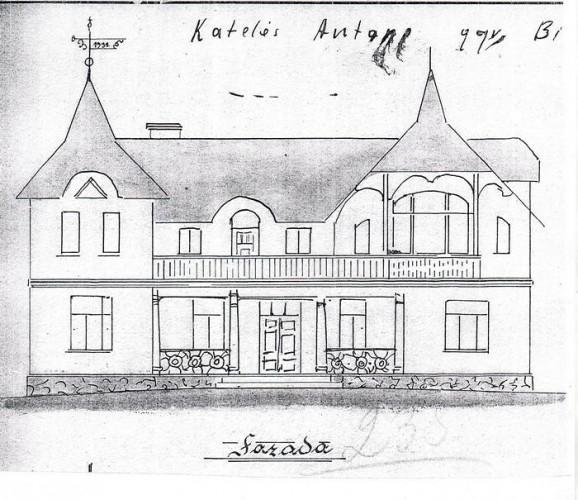 Antano Katelės namo fasadas