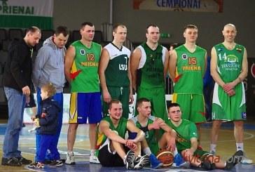 """Miestų krepšinio pirmenybių trečiosios vietos laimėtojai – """"Policijos"""" krepšininkai"""