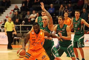 """Prienų """"TonyBet"""" krepšininkai BBL ketvirtfinalio seriją pradėjo įtikinama pergale"""