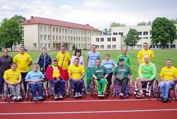 Birštono stadioną išbandė ir neįgalieji