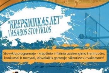 Kvietimas į vasaros krepšinio stovyklą Ignalinoje