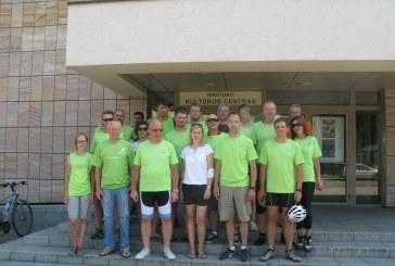 TS-LKD tradicinio dviračių žygio dalyviai aplankė Birštoną