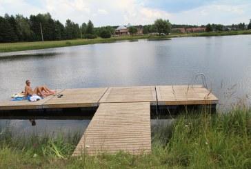 Birštono sporto centras antrajame tvenkinyje įrengė du mobilius tiltelius