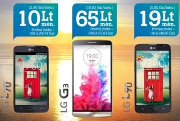 """""""Tele2"""" naujus ir galingus LG telefonus pasiūlė už gerą kainą"""