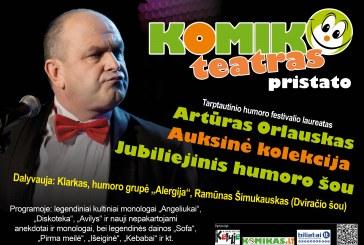 """Jubiliejinis Artūro Orlausko koncertas """"Auksinė kolekcija"""""""