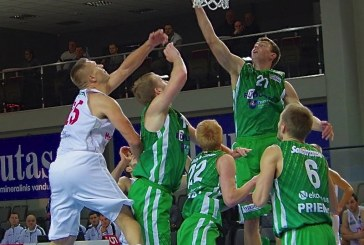 """""""Prienų"""" krepšininkai išbarstė dviženklį pranašumą ir patyrė antrąjį pralaimėjimą BBL čempionate"""