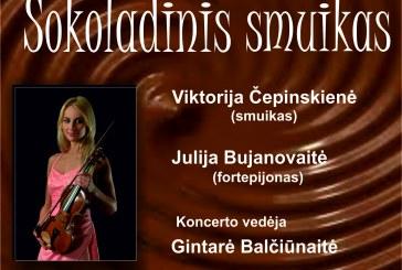 """""""Šokoladinis smuikas"""" – muzikinė popietė su šokolado degustacija visai šeimai"""