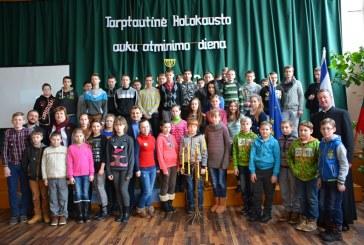 """Holokausto aukų paminėjimas Balbieriškio pagrindinėje mokykloje,,Sudegintieji prabyla atmintyje ir prisiminimuose…"""""""