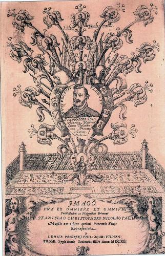 1640m Vilniaus jėzuitų akademijoje išleista Pacų geneologija