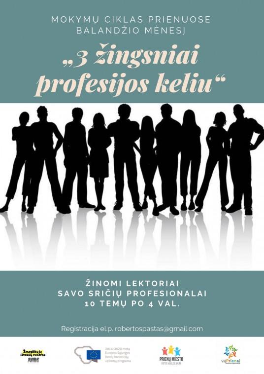 3 žingsniai profesijos keliu