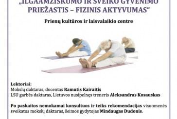 """Seminaras """"Ilgaamžiškumo ir sveiko gyvenimo priežastis – fizinis aktyvumas"""""""
