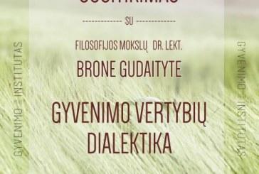 """""""Gyvenimo vertybių dialektika""""- susitikimas su dr. lektore Brone Gudaityte Prienų parapijos namuose"""