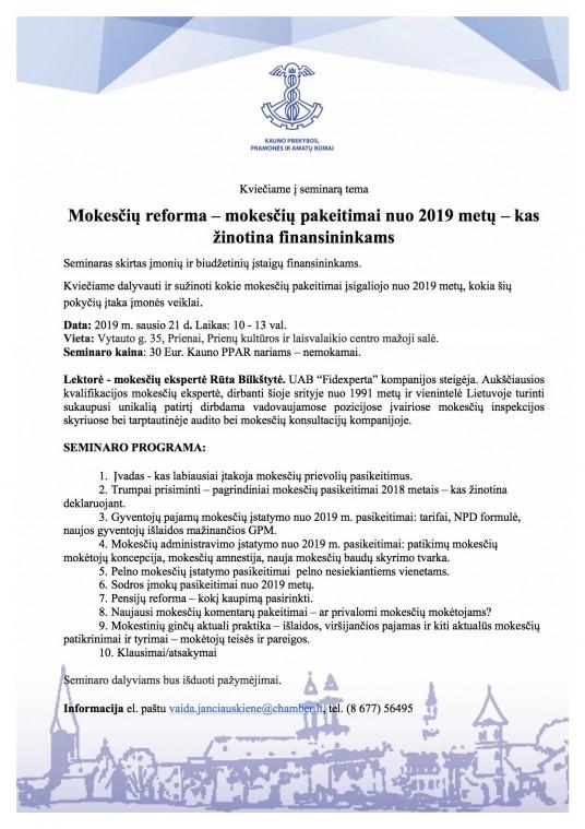 Seminaras 01 21 Mokesciu reforma