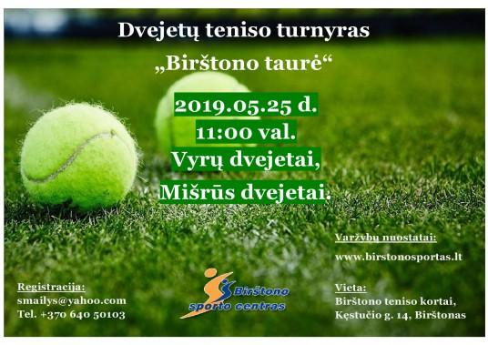 Dvejetu turnyras Birstono taure 2019 05 25