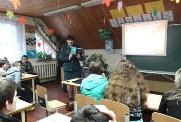 Su mokiniais aptarta administracinė ir baudžiamoji atsakomybė