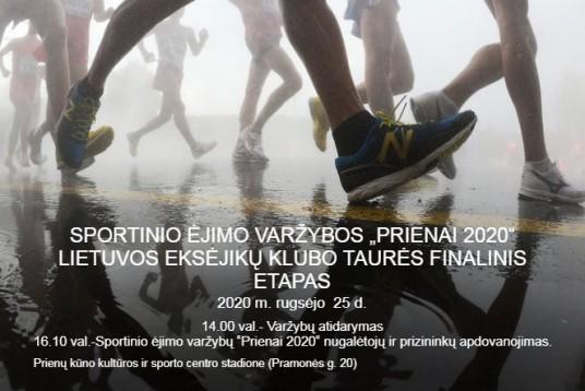 """_ SPORTINIO ĖJIMO VARŽYBŲ """"PRIENAI 2020"""""""