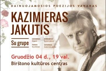 """Dainų autorius ir atlikėjas K. Jakutis: """"Nors dar ne Kalėdos, bet aš dalinu dovanas"""""""