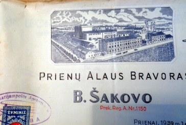 Benicijono Šakovo alaus darykla – krašto istorijos garbės ženklas iš tarpukario (I)
