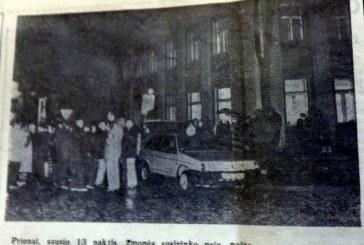"""Iš 1991 m. sausio 13 dienos įvykių kronikos: """"Nuo tragedijos Vilniuje iki komedijos Prienuose"""""""