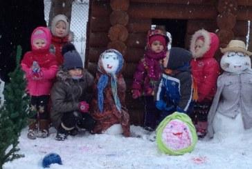 """""""Saulutės"""" vaikai kūrė žiemos pasaką"""