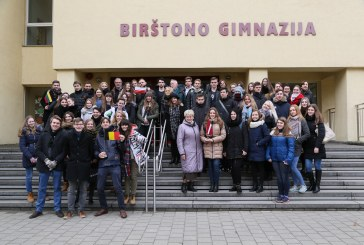 Birštono gimnazistai tarptautiniame projekte