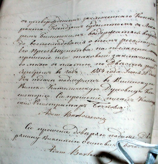 A.Bartosevicus sutartyje.