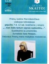 """""""Lietuva skaito"""" renginys Prienų bibliotekoje"""
