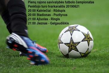 Penktadienį – penktasis Prienų futbolo čempionato turas